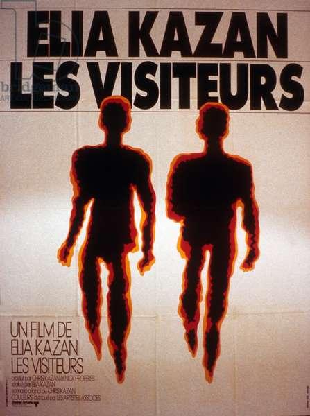 Affiche du film Les visiteurs d'Elia Kazan avec Patrick McVey, Patricia Joyce, James Woods, 1972.