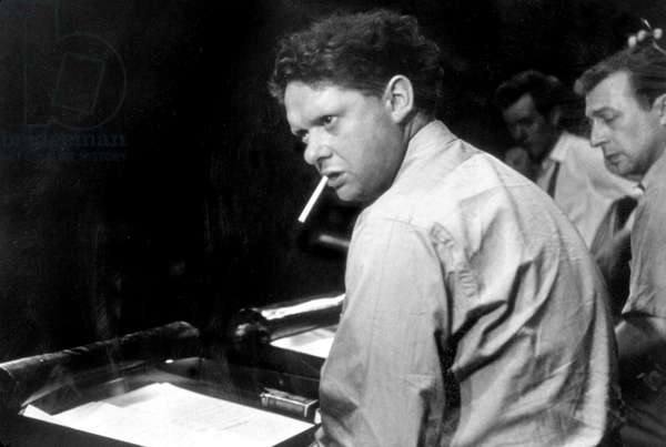 Dylan Thomas directing 'Under Milkwood', c.1952 (b/w photo)