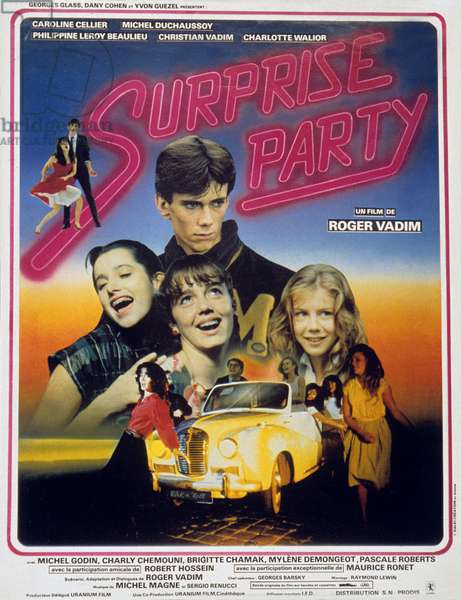 Surprise party de RogerVadim avec Caroline Cellier Robert Hossein et Michel Duchaussoy 1983