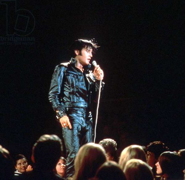 Elvis Presley on stage c. 1968