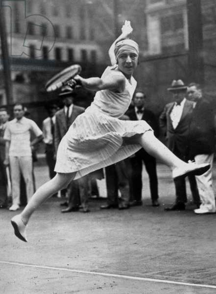 French tenniswoman Suzanne Lenglen (1899-1938) here in New York, 1926