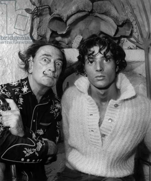 Salvador Dali and his double Williams Rothlein at his home of Port Lligat in Spain, November 1957