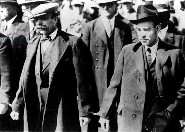 Nicolas Sacco and Bartolomeo Vanzetti Italian-American anarchist activists condemned for murder in May 1921 (executed in 1927)