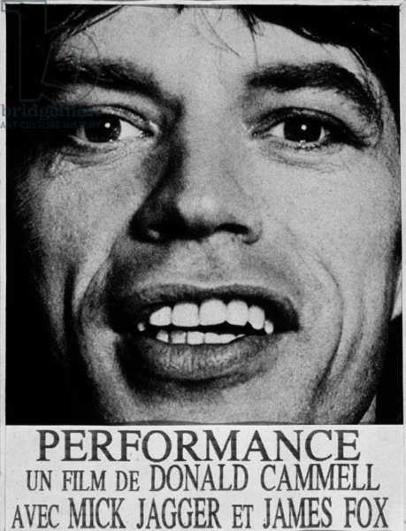 French poster for Performance un film de Donald Cammell avec James Fox et Mick Jagger 1970