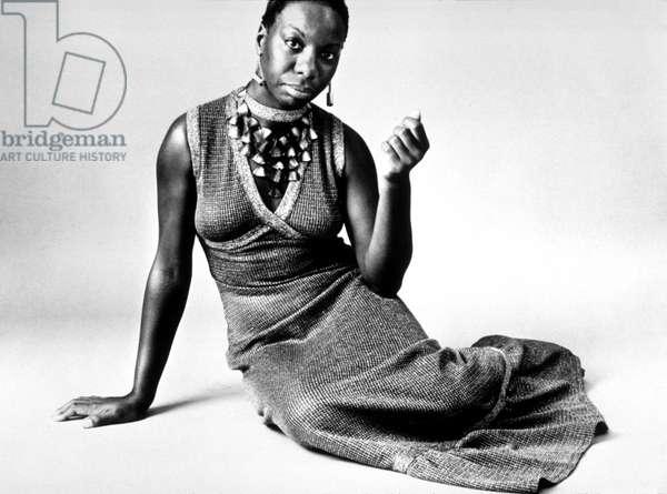 Nina Simone (Eunice Kathleen Waymon 1933-2003) American pianist and Singer