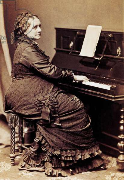 Clara Schumann (1819-1896) German pianist and composer, at piano, c. 1885