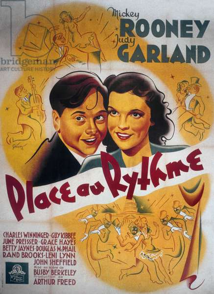 Place au rythme BABES IN ARMS de Busby Berkeley avec Mickey Rooney et Judy Garland, 1939