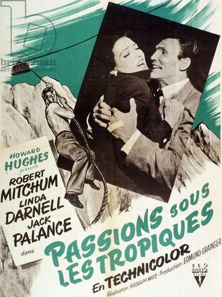 Affiche du film Passion sous les tropiques (Second Chance) de RudolphMaté avec jack Palance et Linda Darnell