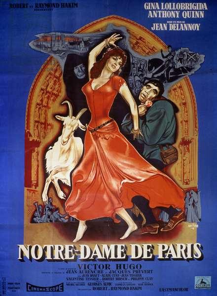 Notre Dame de Paris THE HUNCHBACK OF NOTRE DAME de JeanDelannoy avec Anthony Quinn, Gina Lollobrigida 1956 (d'apres VictorHugo)