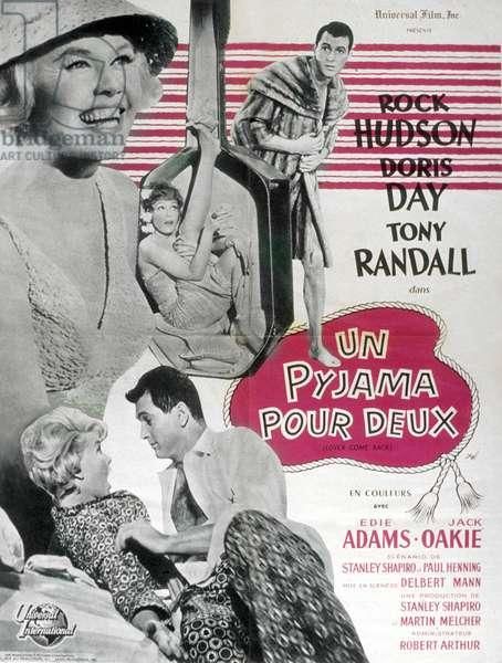 Un pyjama pour deux Lover come Back de DelbertMann avec Rock Hudson Doris Day et Tony Randall 1961