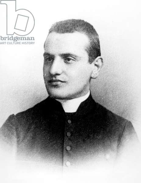 Ange Joseph Roncalli (1881-1963) young future pope John XXIII, here in 1904