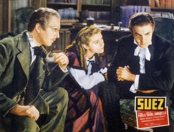 Suez by Allan Dwan with Joseph Schildkraut, Annabella, Tyrone Power, 1938