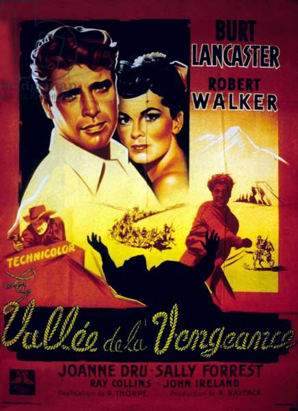 La Vallee de la vengeance VENGEANCE VALLEY de RichardThorpe avec Burt Lancaster, Joanne Dru, Robert Walker, 1951