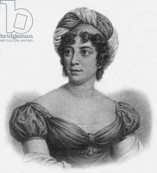 French writer Anne-Louise Germaine Necker, baroness of Stael-Holstein, known as Madame de Stael (1766-1817), engraving