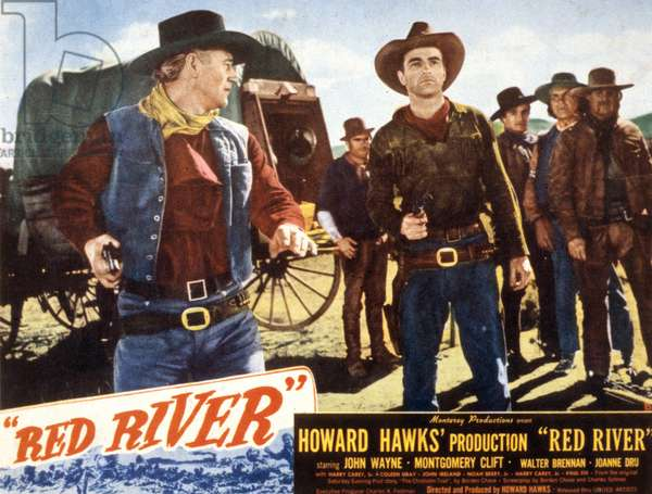 Poster for Red River directed by Howard Hawks starring John Wayne et Montgomery Clift, 1948