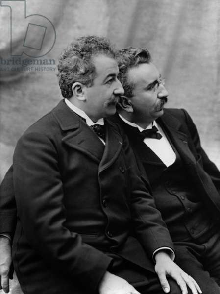 Brothers Auguste Lumiere (1862-1954) and Louis Lumiere (1864-1948) inventors of cinema