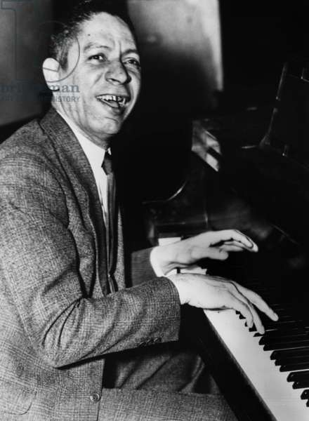 Jelly Roll Morton (1885/1890-1941, real name Joseph Ferdinand Lamothe) at the piano c. the late 30's