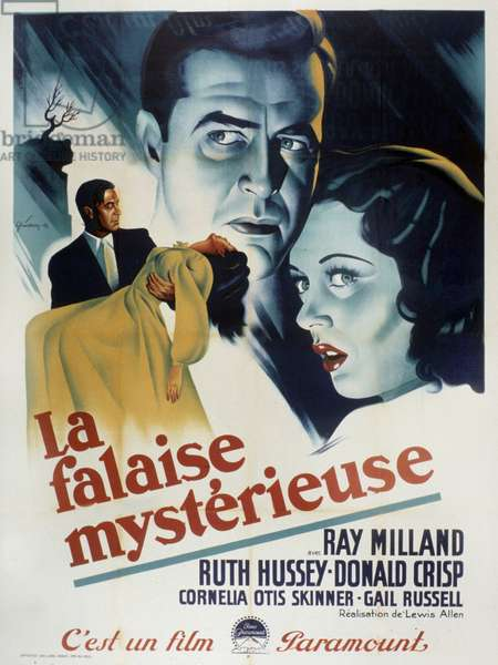Film Poster for The Uninvited directed by Lewis Allen, starring Ray Milland and Ruth Hussey 1944