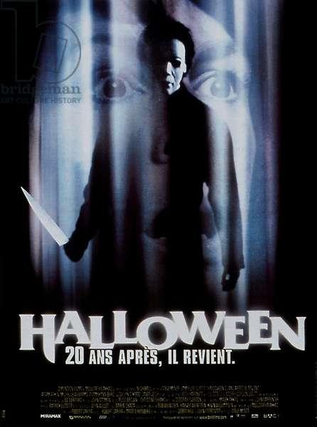 "Affiche du film ""Halloween vingt ans apres"" 1998 de SteveMiner avec Jamie Lee Curtis Josh Hartnettt et Adam Arkin"