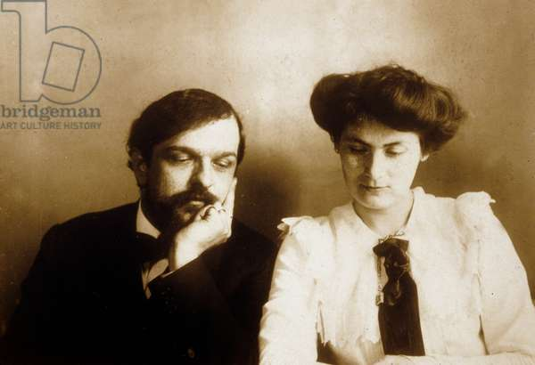 Claude Debussy (1862-1918) French composer, here with his 1st wife Lilly , 1902