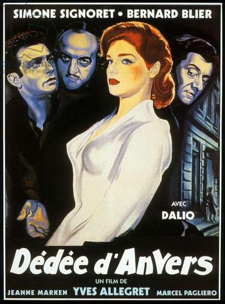 Affiche du film Dedee d'Anvers de YvesAllegret avec Bernard Blier, Simone Signoret, Marcel Pagliero 1948