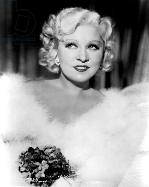 American Actress Mae West (1892-1980) in 1937