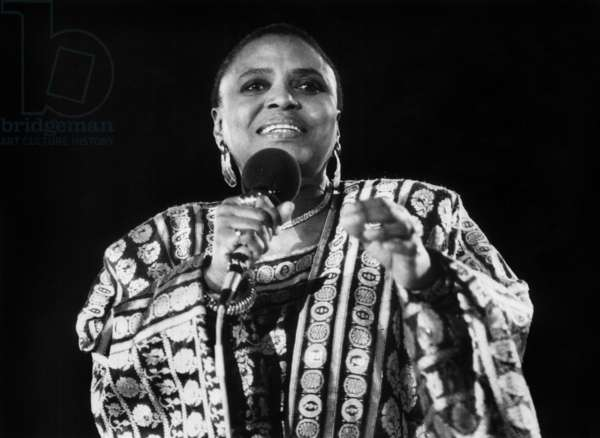Concert of South African Singer Miriam Makeba in Finland on May 20, 1987