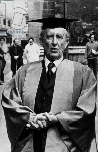 J.R.R. Tolkien, 1972 (b/w photo)