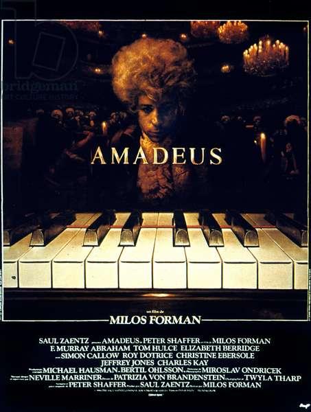 Affiche du film Amadeus de MilosForman avec Tom Hulce (WolfgangAmadeusMozart) 1984