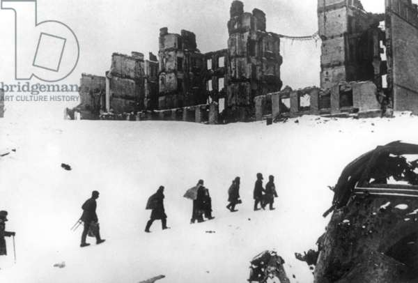 Stalingrad in ruins after battle which ended on February 1943