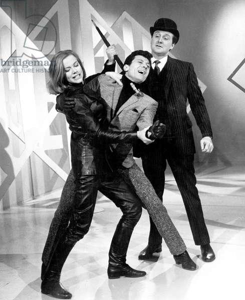 serie televisee series Chapeau melon et bottes de cuir The avengers avec Patrick Macnee et Honor Blackman le 3 decembre 1963