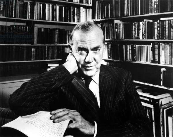Graham Greene (1904-1991) English playwright novelist and journalist Graham Greene (1904-1991) here c. 1960