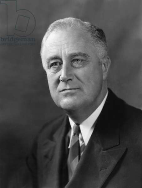 Franklin Delano Roosevelt (1882-1945) American President posing on June 20, 1936 when he was reelected