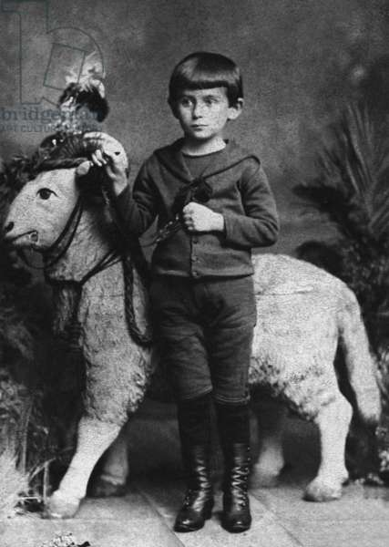 Franz Kafka (1883-1924) czeck writer, here as a child, 1888