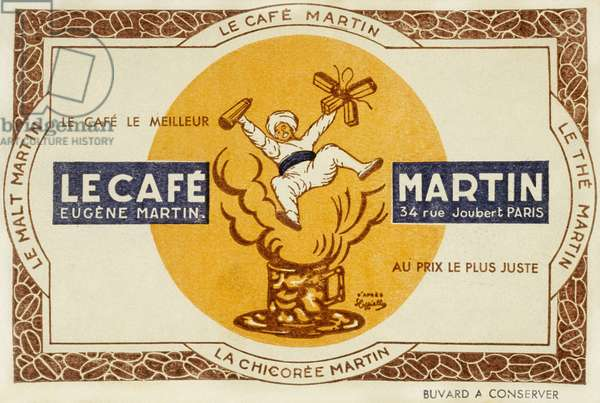 French advertisement for the coffee Martin, after Leonetto Cappiello 1921