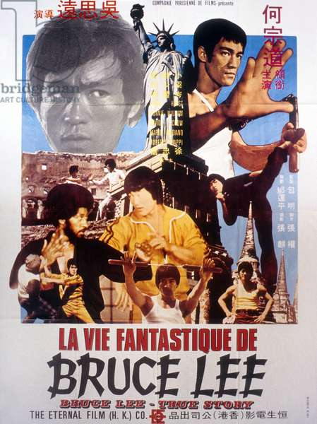 Affiche du film Derrière Bruce Lee (Bruce Lee : The Man, the Myth - The Dragon Lives) de See Yuen Ng, 1976