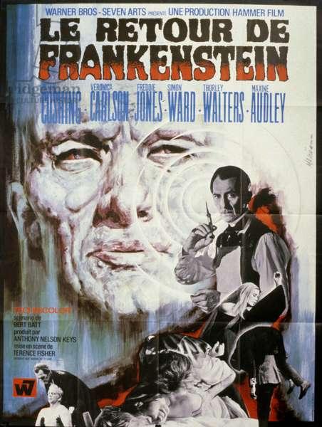 Le retour de Frankenstein Frankenstein Must Be Destroyed de TerenceFisher Peter Cushing, Veronica Carlson, 1969