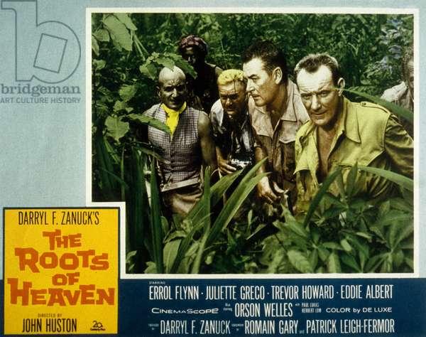 Les Racines du Ciel THE ROOTS OF HEAVEN de JohnHuston avec Errol Flynn et Trevor Howard 1958 (d'apres Romain Gary, aka Emile Ajar)