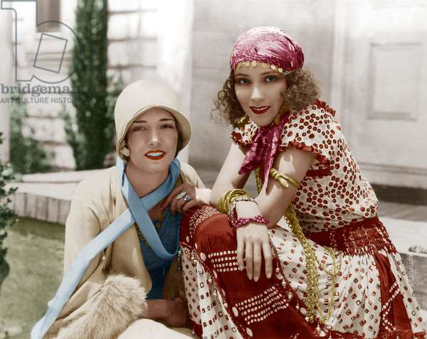 Actrices Lupe Velez (1908-1944) et Dolores Del Rio (1905-1983), 1928