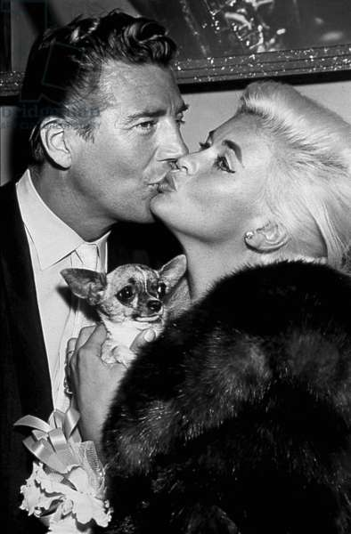 The American Actress Jayne Mansfield (1933-1967) and her husband (from 1958 to 1964) Mickey Hargitay