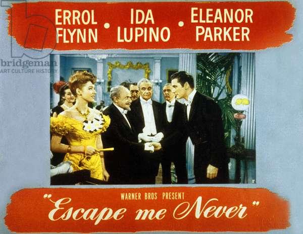 Affiche du film Escape me never de PeterGodfrey avec ErrolFlynn et Ida Lupino 1947