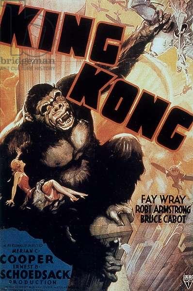 Affiche du film King  kong de MerianCooper et ErnestSchoedsack avec Fay Wray 1933