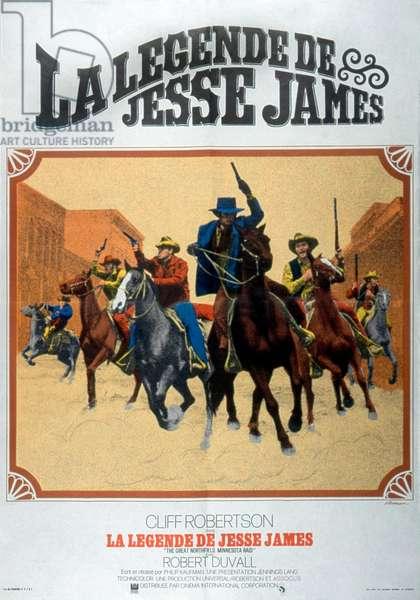 Affiche du film The Great Northfield, Minnesota Raid de PhilipKaufman avec Cliff Robertson et Robert Duvall 1970