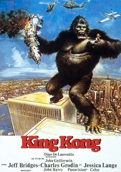 Affiche du film King  KONG de JohnGuillermin 1976