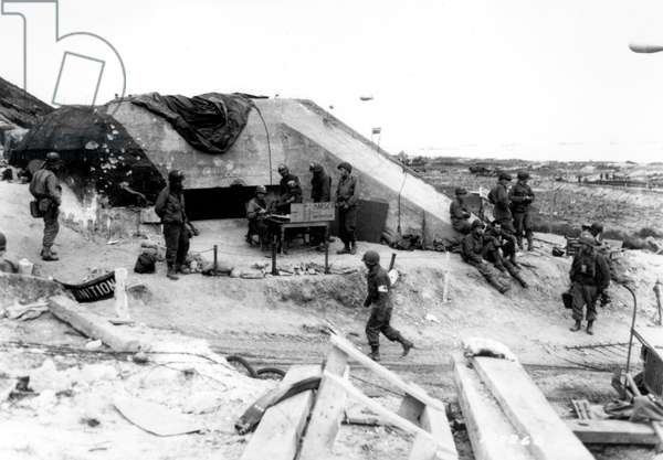 Operation Overlord, June 6, 1944, Normandy, France : Omaha Beach : blockhouse WN65 a few days after the operation