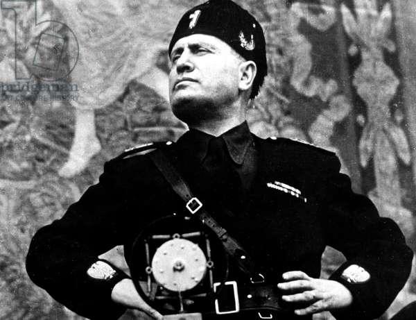 Benito Mussolini (1883-1945) Italian fascist leader c. 1940