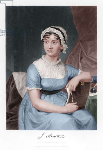 Jane Austen (engraving) (later colourization)
