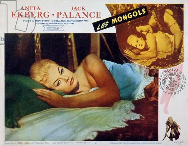 les mongols de AndreDeToth et LeopoldoSavona avec Jack Palance et Anita Ekberg 1961