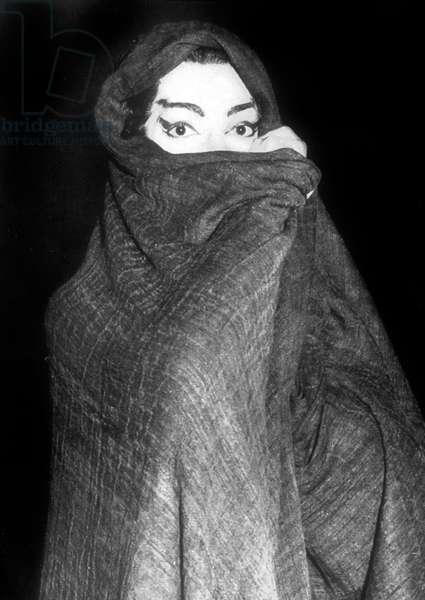 Soprano Maria Callas at london opera in Medea on June 16, 1959
