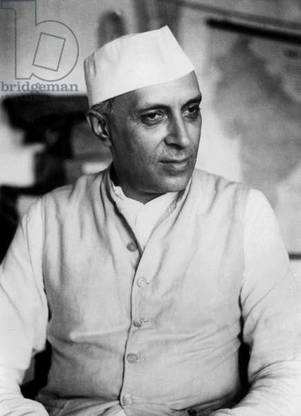 Jawaharlal Nehru (1889-1964) Indian Prime Minister in 1947-1964 c. 1953